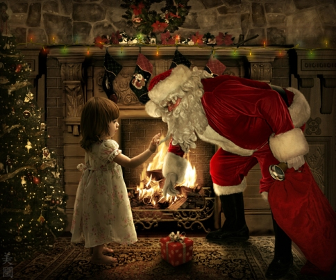 santa_claus_with_little_girl